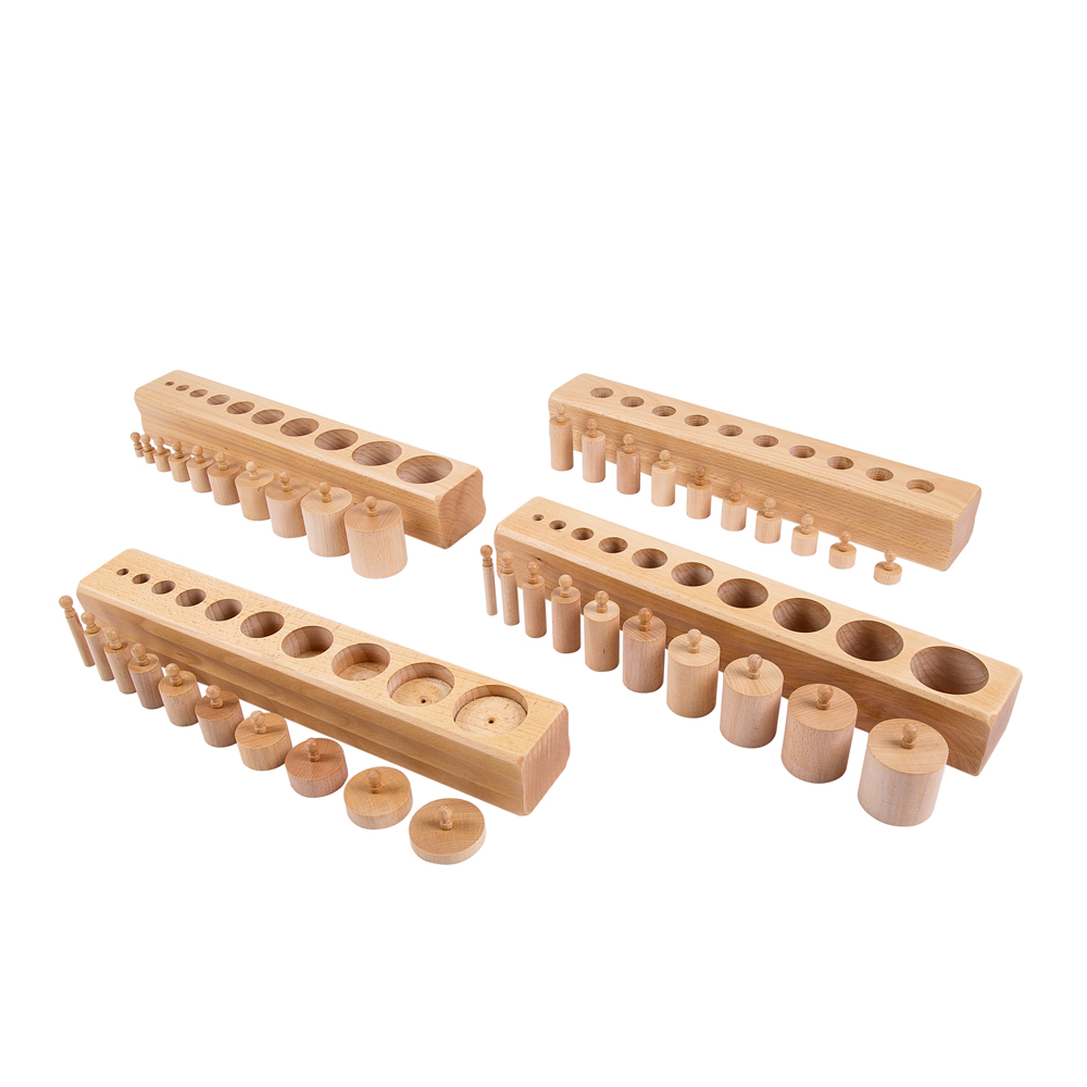 sensorial cylinder blocks None geography language sensorial show only products on sale in stock only prices shown include vat @ 23% set of 4 beechwood cylinder blocks.